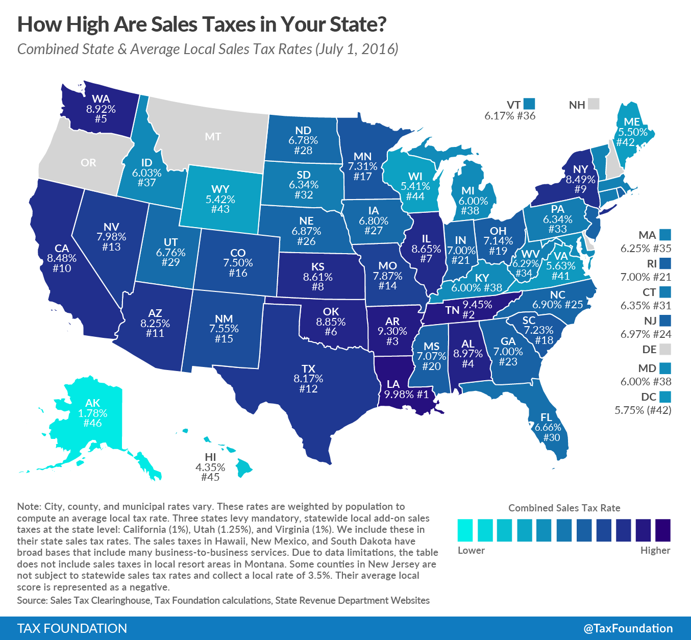New York State Sales Tax Rate >> How High Are Sales Taxes In Your State Tax Foundation Of Hawaii