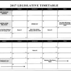 2017 Legislative Calendar